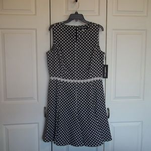 NWT Karl Lagerfeld Polka Dot Dress Size 14